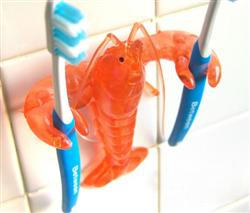 Crawfish toothbrush holder