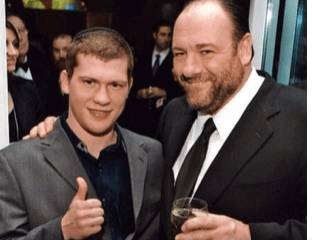Dmitriy Salita, fighter and now promoter, pictured with actor James Gandolfini around 2011, in NYC.