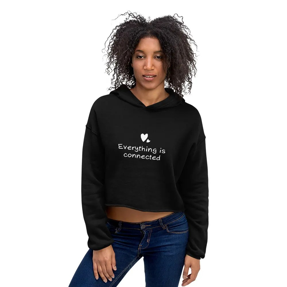 Crop Hoodie – Everything Is Connected