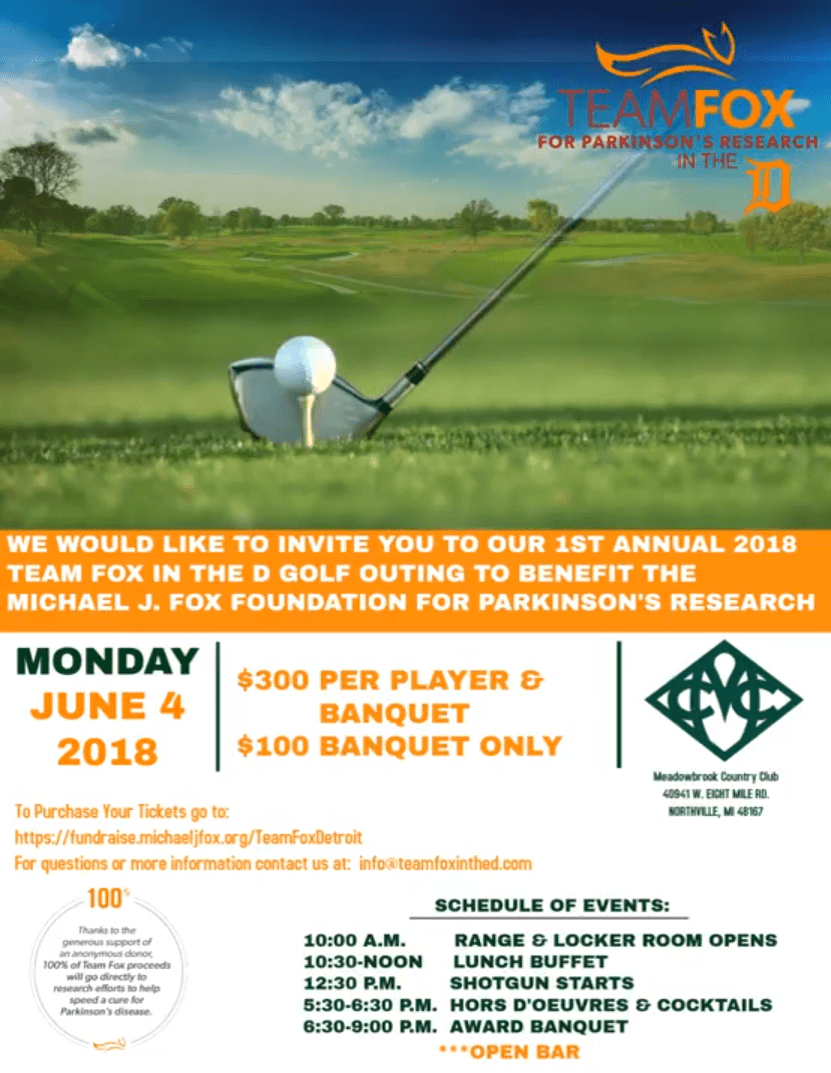 team fox golf outing flyer
