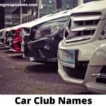 180 Car Club Names List 2021 Good Funny Cool Badass Team Group