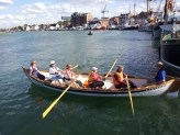 Rowing Blakeney,s Skiff at Harbour Day