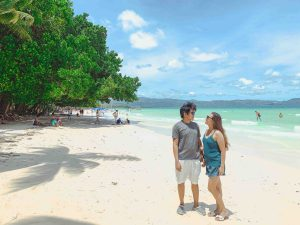 teamjaizel at boracay, couple pic boracay