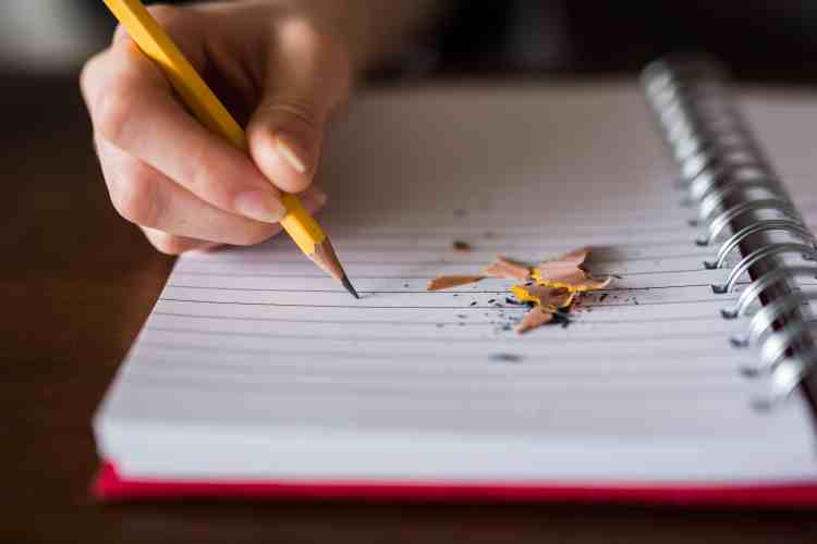 notebook and pencil - study essentials!