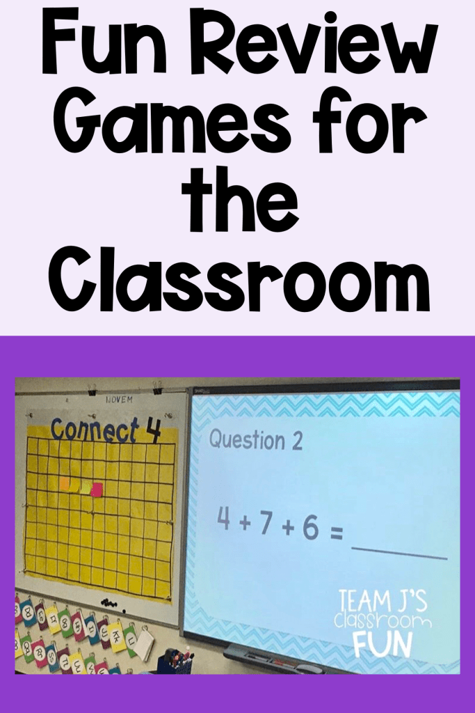 Long Pin for Fun Review Games for the Classroom