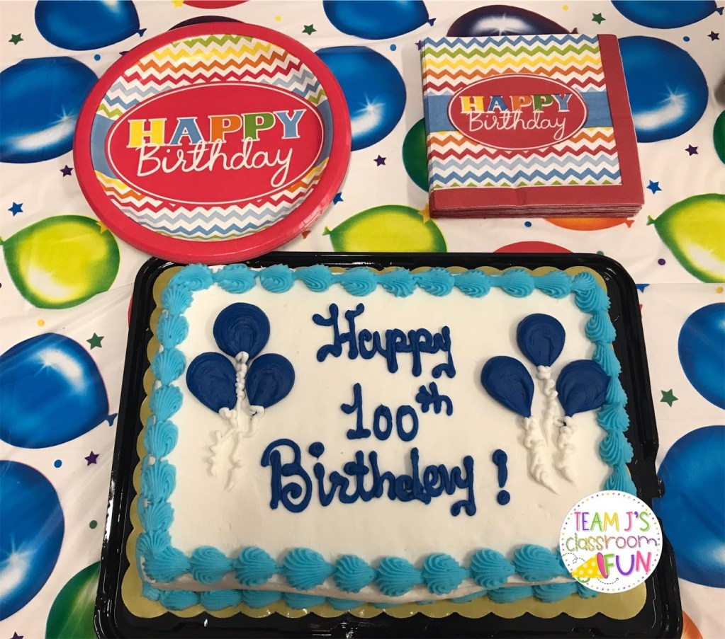 Picture of 100th birthday cake