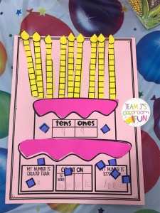 Place value birthday cake
