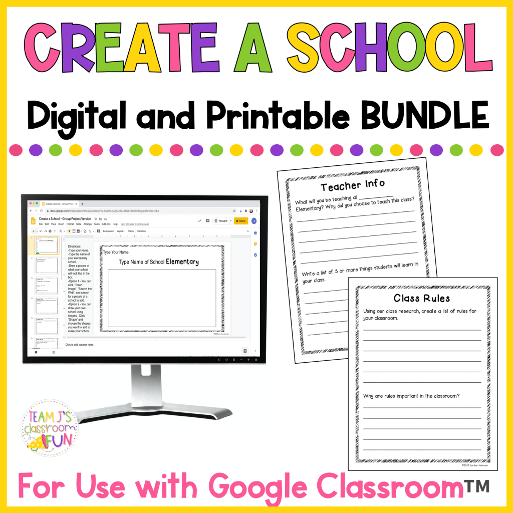 Picture of cover for TPT Resource - Create a School Digital and Printable BUNDLE.