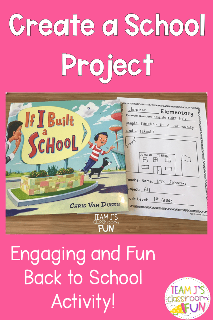 Long Pin for Create a School Project. Picture of book - If I Built a School with Project.