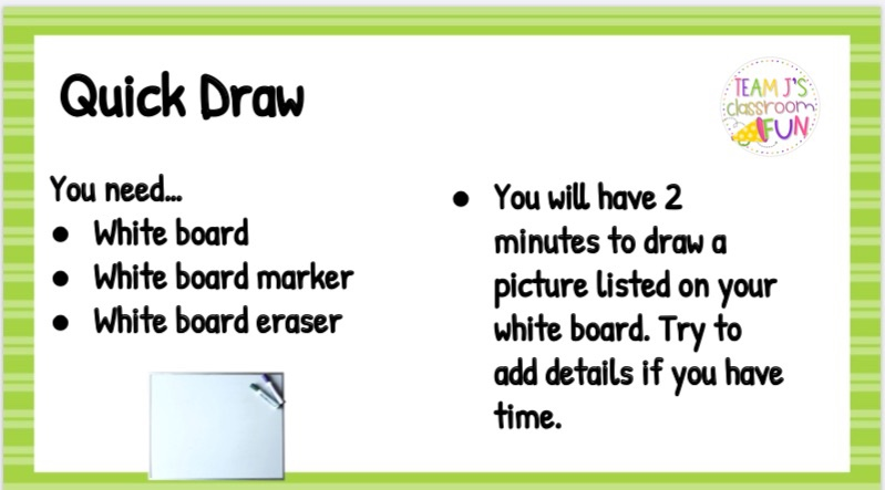 Directions for Quick Draw Activity