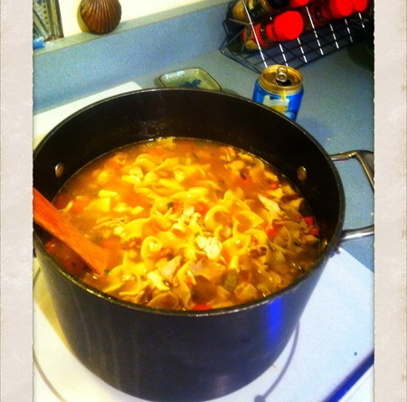 Chicken Noodle Soup Recipe, easy chicken noodle soup recipe, quick chicken noodle soup recipe, redneck recipes, soup using left overs