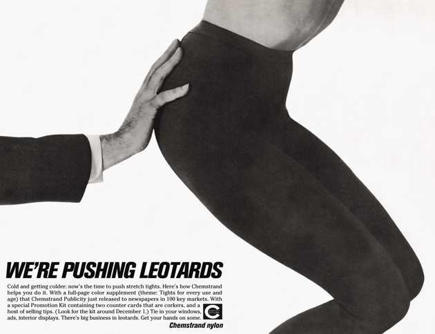Pushing Leotards Pinching butt  ~ The most sexists advertising ~