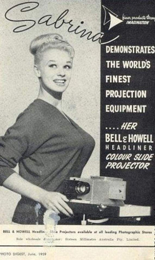 Sabrina Talk about your projections equipment. Bell & Howell  ~ The most sexists advertising ~