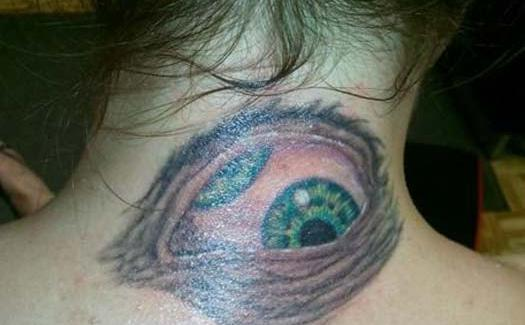 Eyeball on Neck – Bad Tattoos Worst Tattoos Regrettable Ugliest Tats WTF Funny