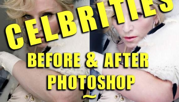 Celebrities Before & After Photoshop: 23 GIFs 2
