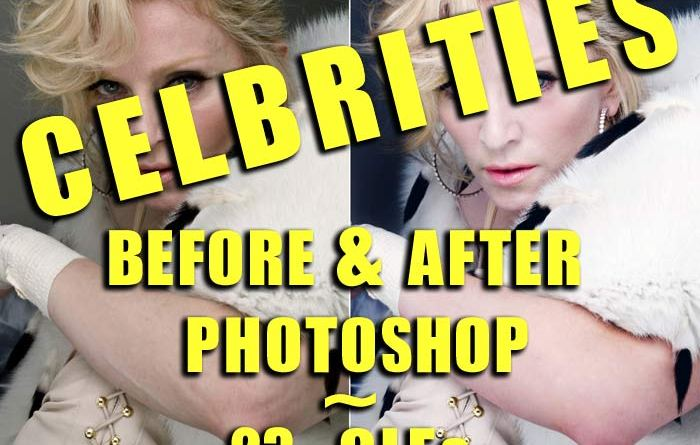 Celebrities Before & After Photoshop: 23 GIFs 1