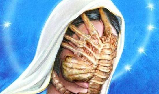 Jesus! A Face Hugger ~ 18 Funny Pics and Memes