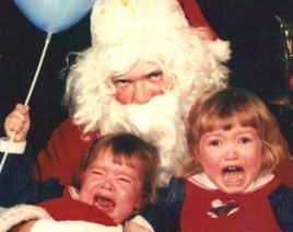 Laps from Hell: 34 Creepy Santas