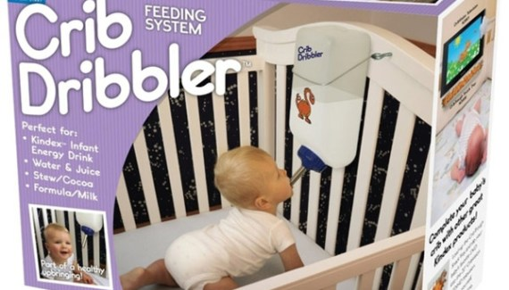 Crib Dribble Hamster Bottle ~Crazy Stupid Baby Products
