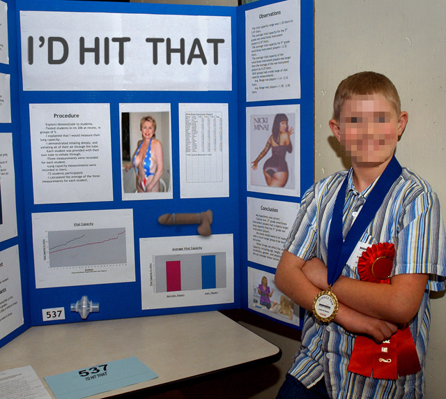 27 Funny Science Fairs with Projects that Rock! ~ I'd hit that blue ribbon award 8th grade
