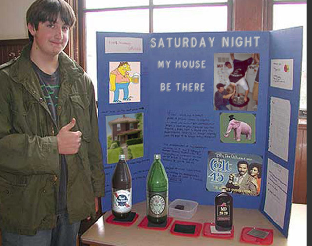 27 Funny Science Fairs with Projects that Rock! ~ Saturday Night Party at My House High School