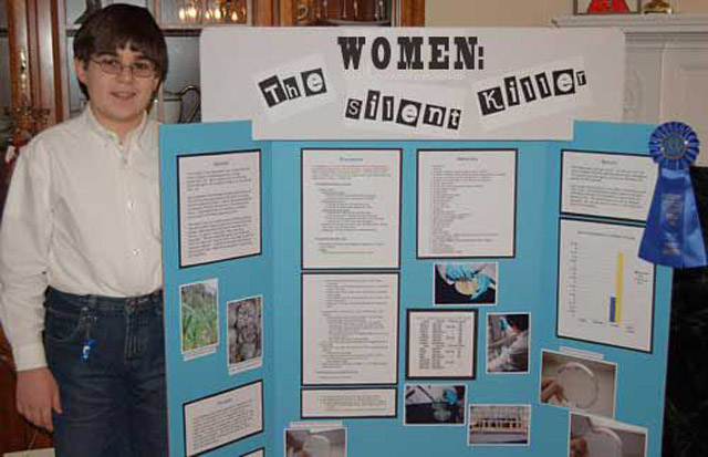 Funny Science Fair Projects: Women the silent killer