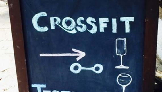 Funny Sidewalk Signs ~ Liver Crossfit