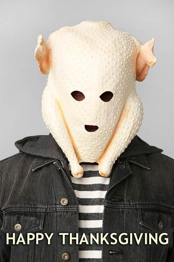 Funny Pics ~ 37 Outrageous Images - Thanksgiving turkey on head