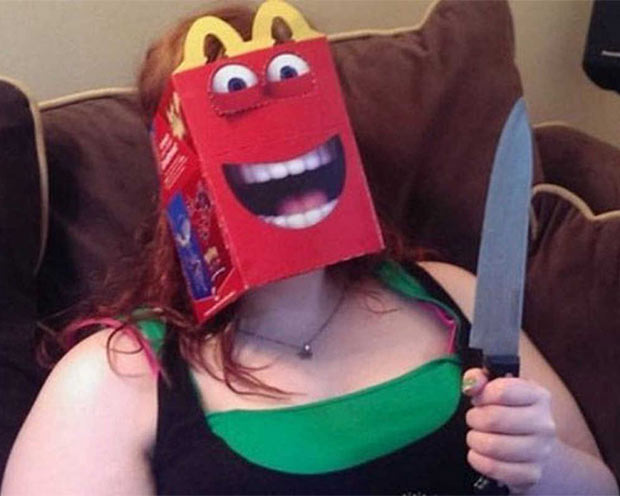 33 Funny Pics of Random Offbeat Weirdness ~ crazy happy meal box face knife