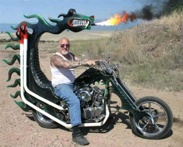 Cool fire breathing dragon motorcycle