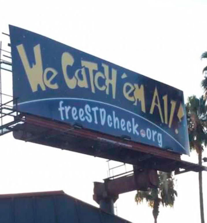 funny billboard Pokemon we catch's all free std check org