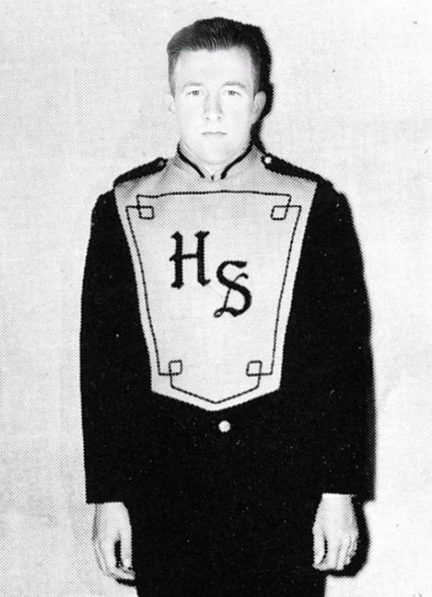 A.J. Allmendinger, first chair cymbals, Leigh High School Marching Band ~ funny nascar yearbook photos