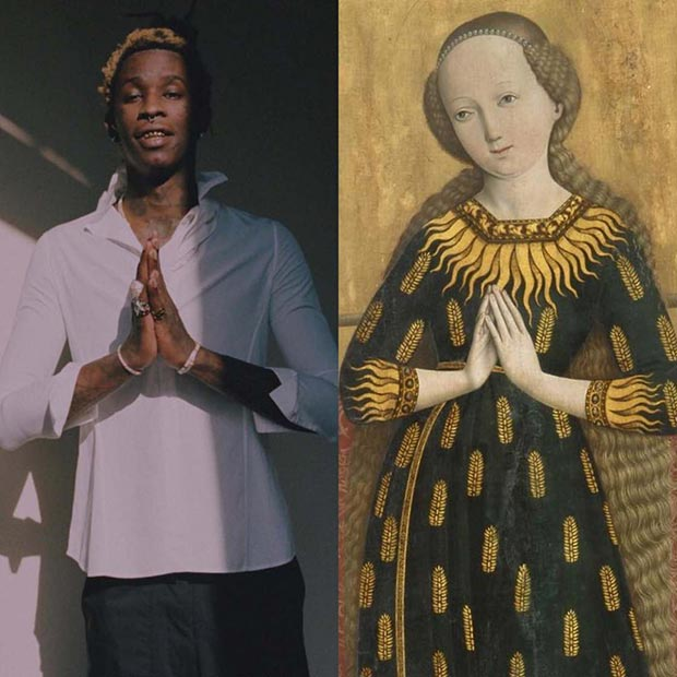 The Striking Similarities between Modern Rap & Hip-Hop Photography Compared to Classic Art ~ Young Thug as Paintings