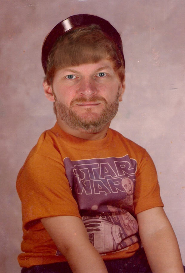 Dale Earnhardt, jr., 1st grade and cute as a Wookie ~ funny nascar driver yearbook photos