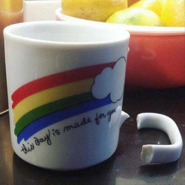 Funny inspirational coffee mug with broken handle ~ 35 Funny Pics & Memes