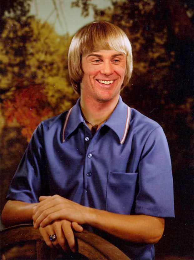 """Kevin Harvick, voted """"Best Smile"""" and """"Best Hair"""" at John W. North High School ~ funny nascar drivers yearbook photos"""