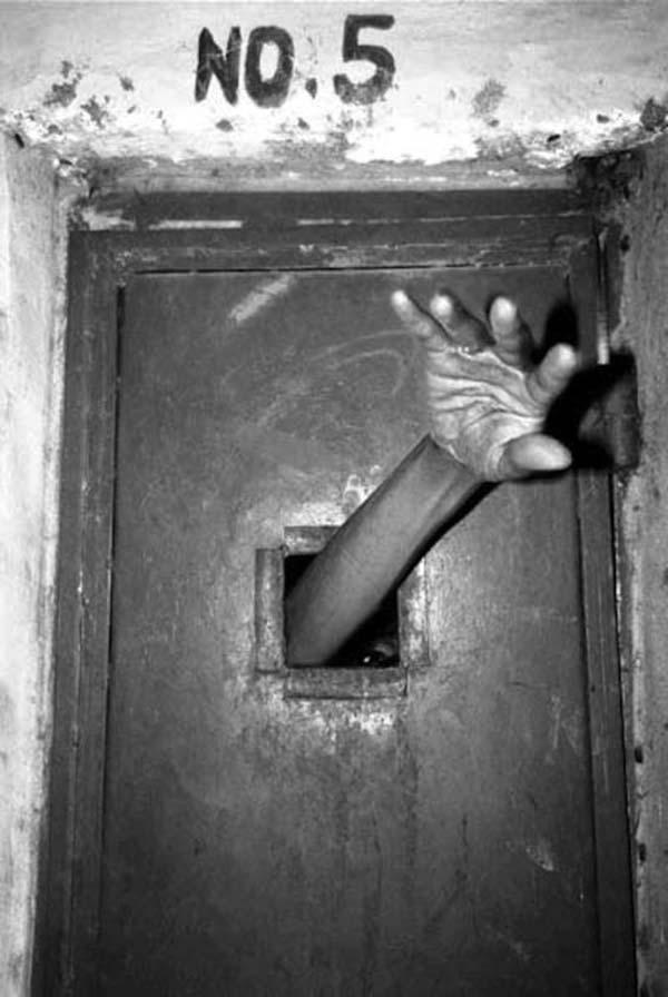 asylum patient, mental ward ~ old creepy photos