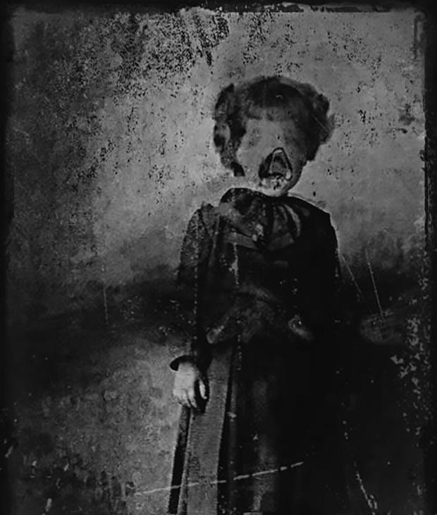 vintage portrait of girl possessed ~ old creepy photos