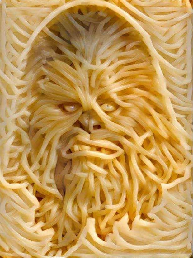 Chewy Chewbacca Pasta ~~ funny pics & memes