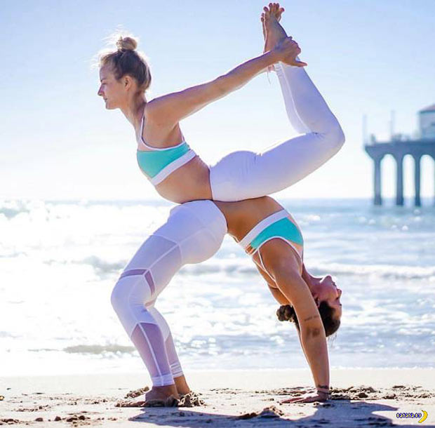 X Marks the Spot... Awesome yoga pose ~~ 37 funny pics & memes