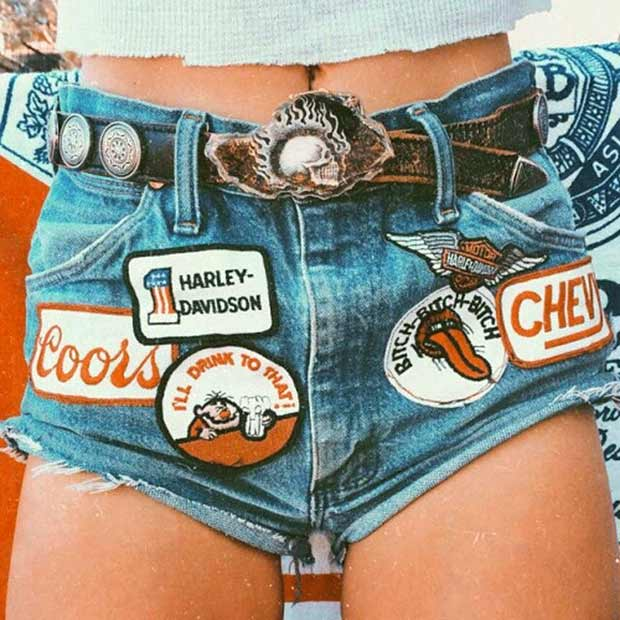 vintage 1970s cutoffs, shorts and patches ~~.~~ ~Funny Pics Memes