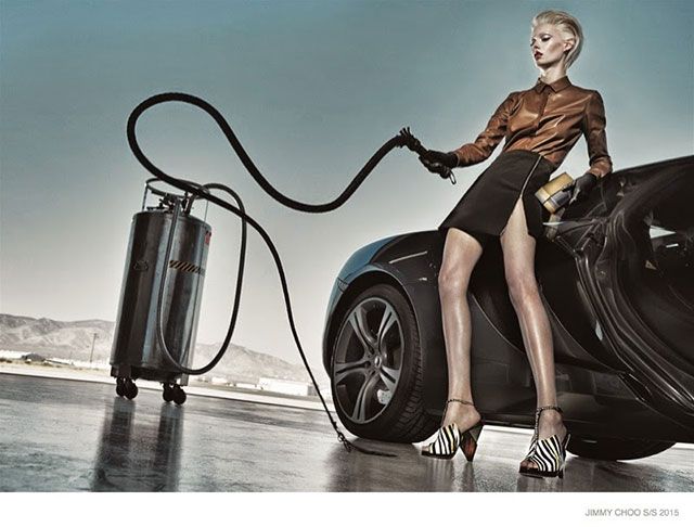 """""""Fill'er up!"""" ~ Sexist ads vintage and new Jimmy Choo Fashions"""