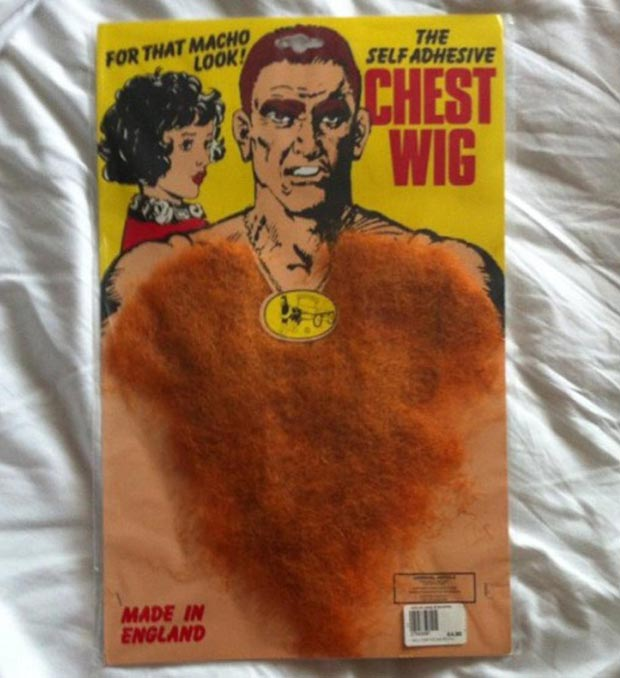 Vintage bad products ~ self adhesive chest hair ~ Funny pics & memes