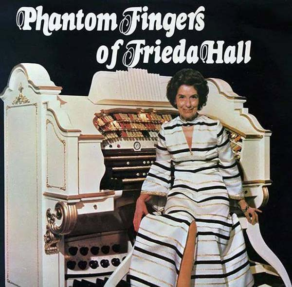 It's not just her fingers. She can do that cool little thing with her tongue. . . Phantom Fingers of Frieda Hall ~~ Funny Bad Album Covers
