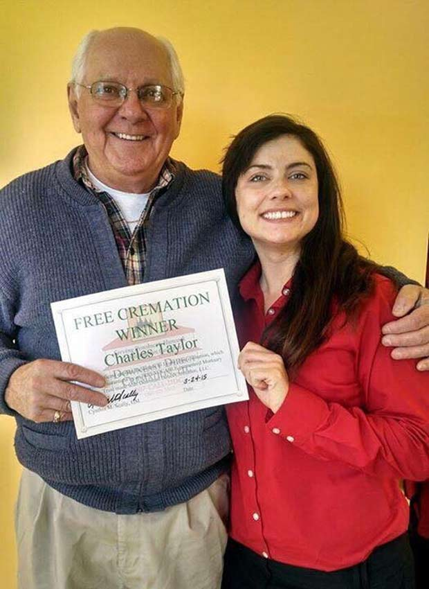 Charles Taylor ~ Free Cremation Winner