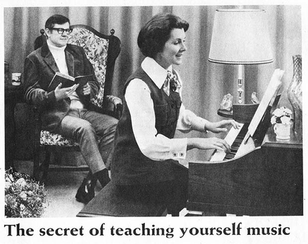 Vintage ad ~ Secret of teaching yourself music, playing piano