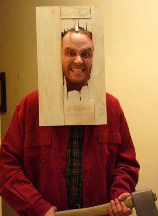 "Jack Nicholson from the Movie ""The Shning"" Door. ~ Best Halloween Costumes"