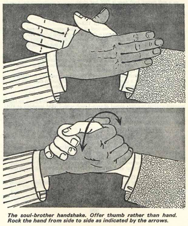 Vintage diagram of Soul-Brother Handshake ~ Funny Pics & Memes