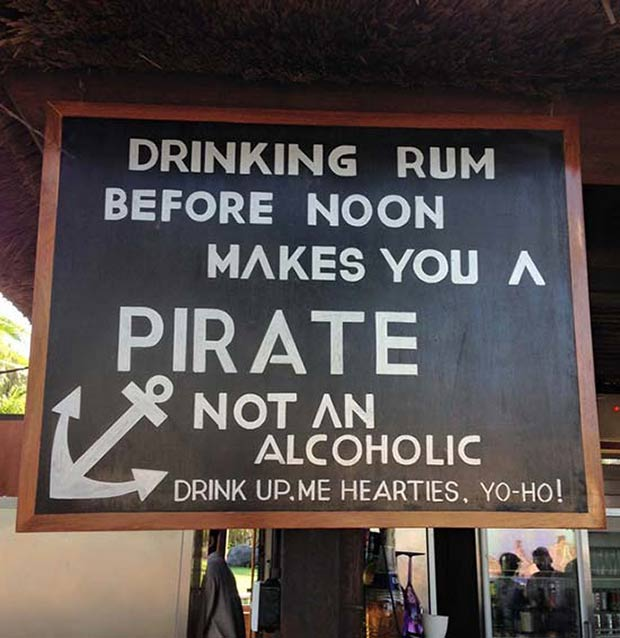 Arrrrrgh! Rum Makes you a pirate ~