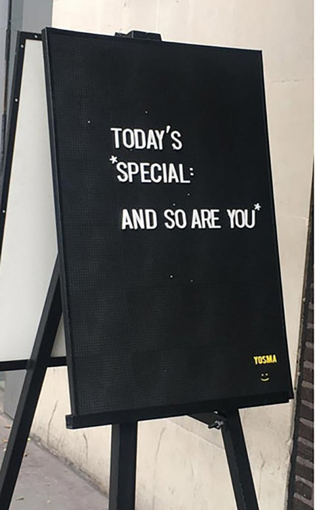 Everyone gets a trophy ~~ Funny Sidewalk Signs ~ You're Special